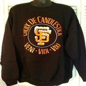 Image of BLACK Croix De Candlestick Crewneck Sweatshirt