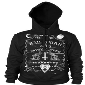 Image of Hail Satan And Drink Coffee - Hooded Pullover Sweater