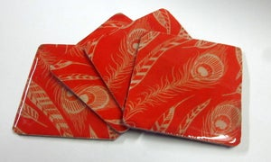 Image of Feather Print Coasters