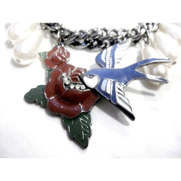 Image of Rose & Swallow Necklace