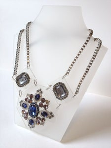 Image of Hexagon Jewelled Statement Necklace
