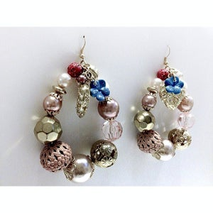 Image of Limited Edition Multi Bright Large Hoop Earrings