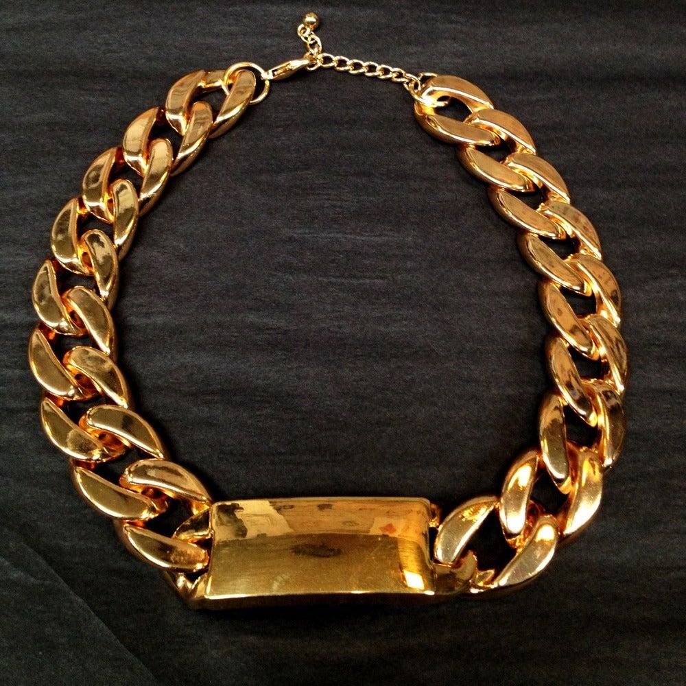 Image of I.Love I.D Cuban Link Choker Necklace