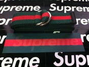 Image of Forest Green & Red Belt (Free Supreme Sticker)