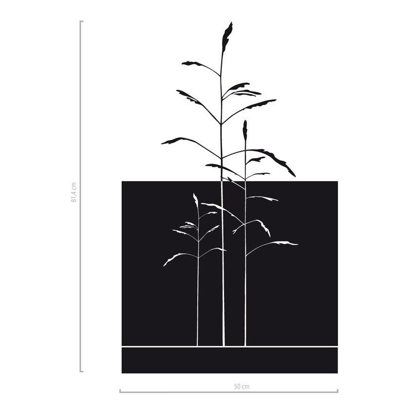 Image of Sichtschutz Folie für Fenster mit Gräsern