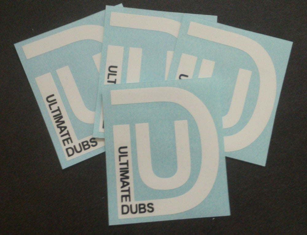 Image of Ultimate Dubs - UD Logo - White - Sticker