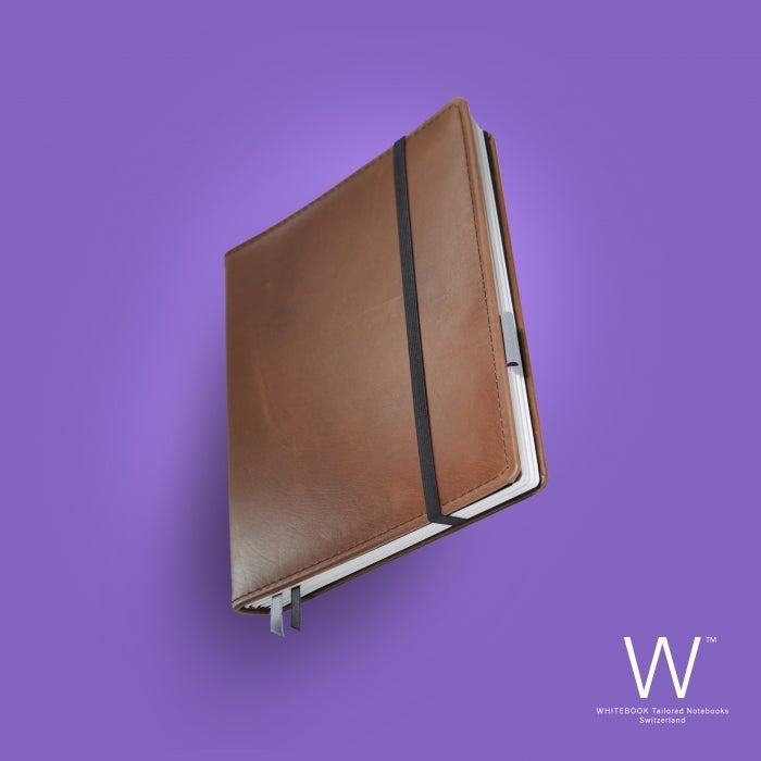Image of Whitebook Premium P037w, nappa leather light brown, welt-sewn, 240p. (fits iPad/Air/Mini / Samsung)