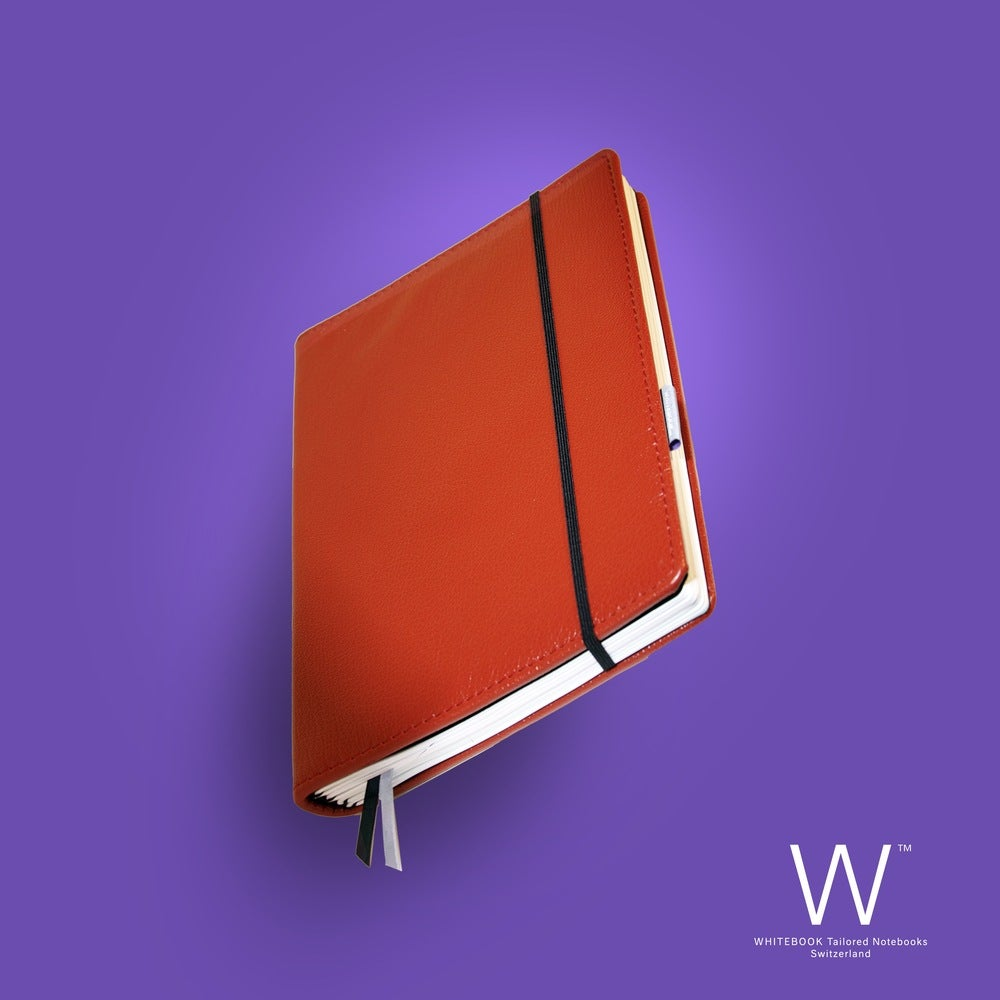 Image of WHITEBOOK PREMIUM, P027w, nappa leather, red