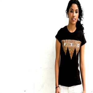 Image of Five Tie City Women Black T-shirts