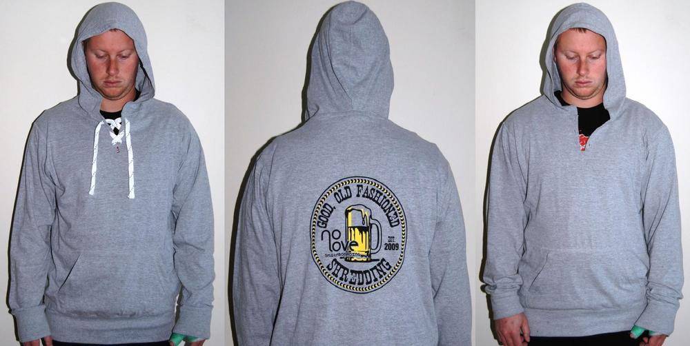 Image of Old Fashioned Shredding Light Hoody Grey