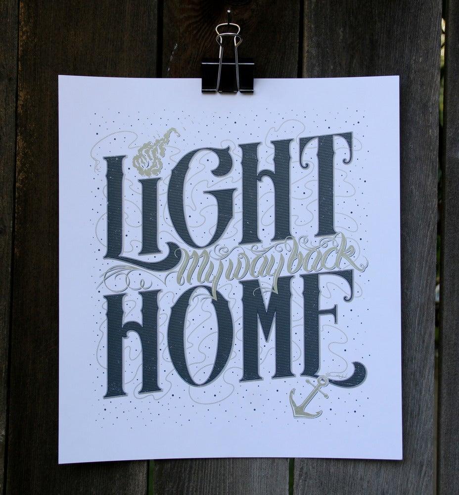"Image of Art Print ""Light My Way Back Home"""
