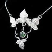 Image of Fallen Leaves Pendant Necklace - Sterling Silver