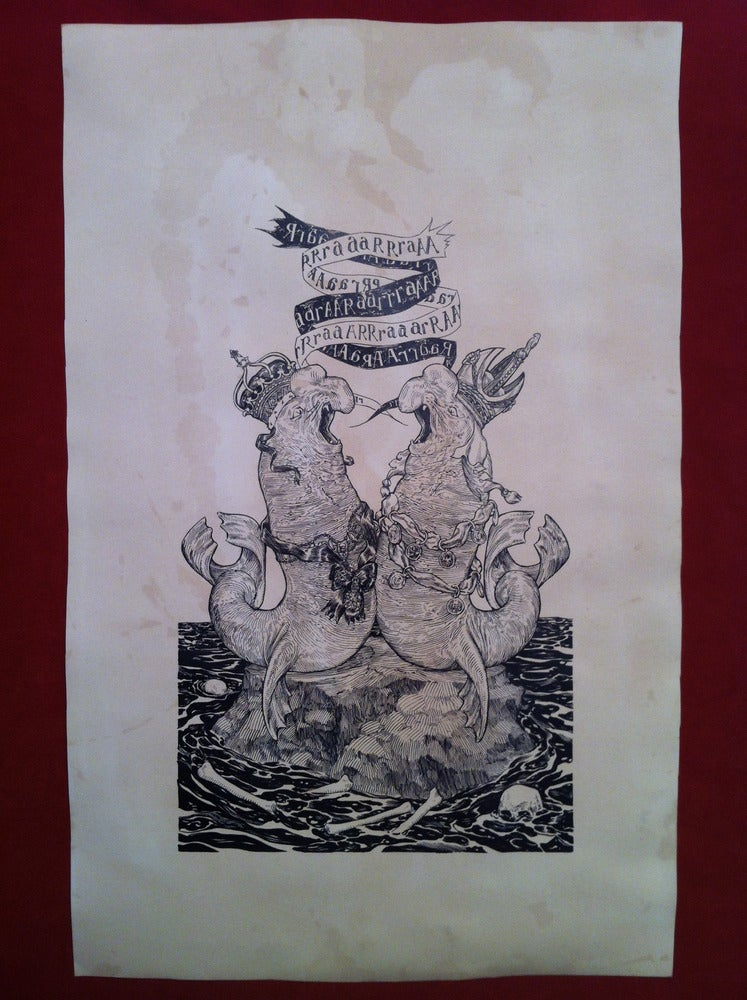 Image of The Rivals -hand stained print