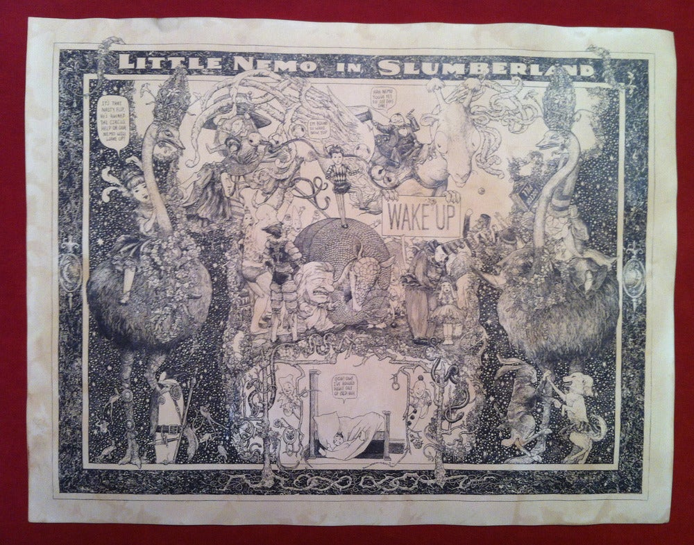 Image of Little Nemo in Slumberland -hand stained print