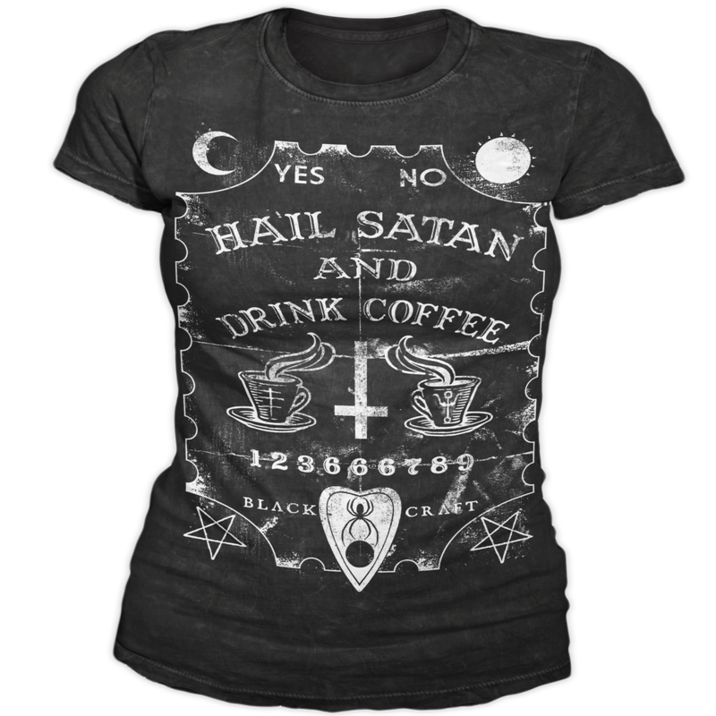 Image of Hail Satan And Drink Coffee - Women's Tee