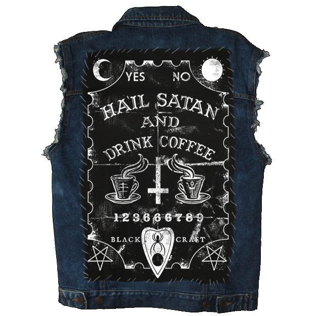 Image of Hail Satan And Drink Coffee - Back Patch