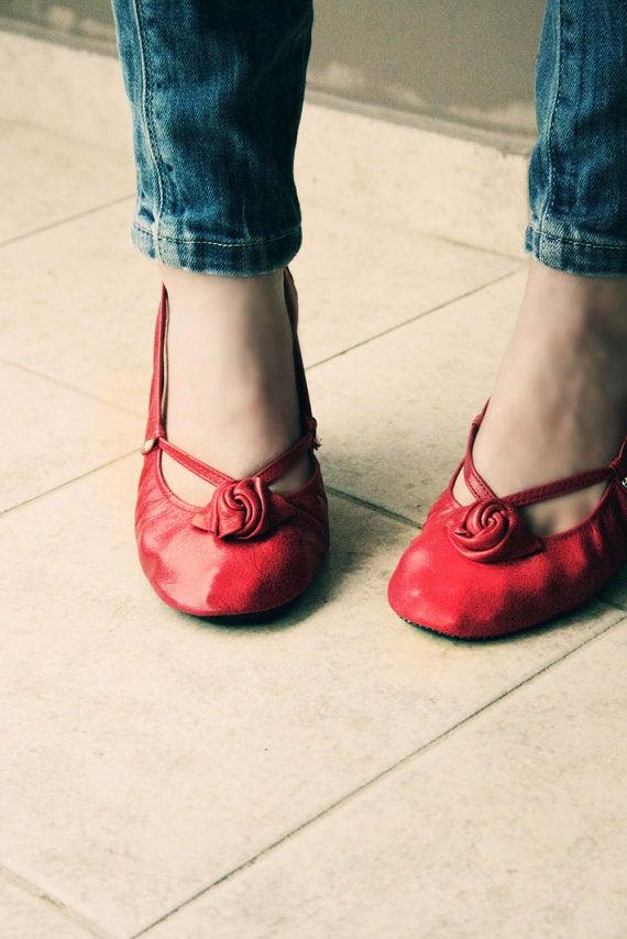 Image of Ballet flats Foldable - Red Alert