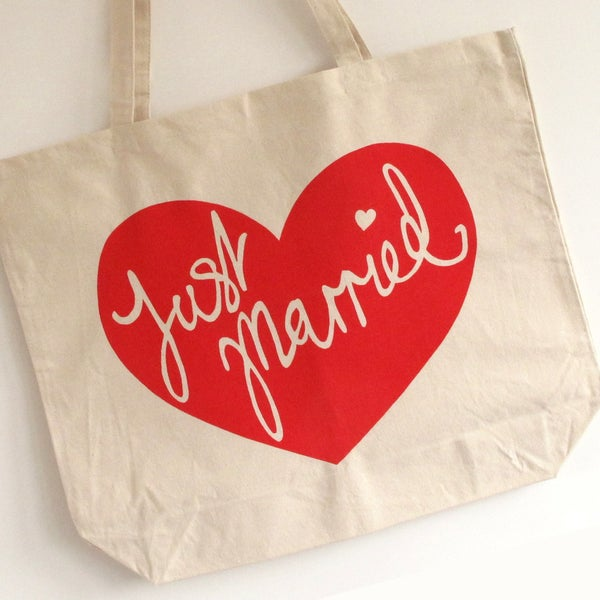 Image of Just Married Honeymoon Tote