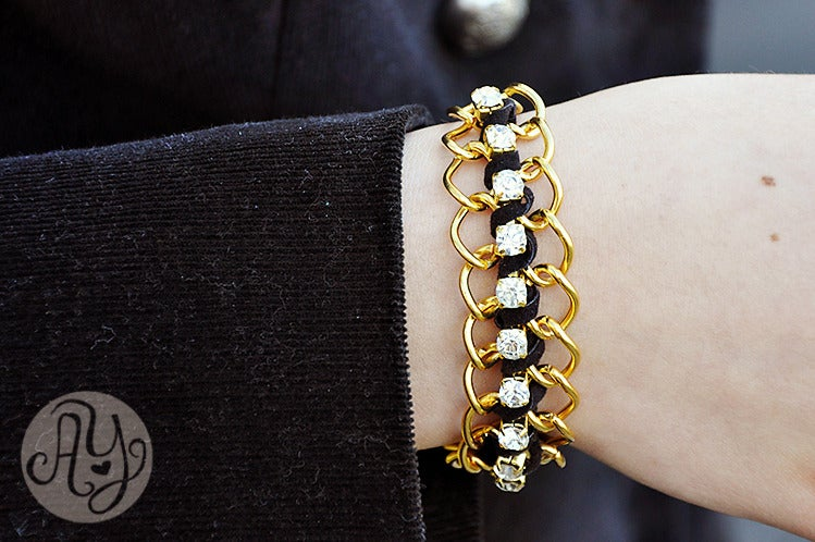 Image of Classic Black and gold bracelet
