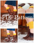 Image of Ribbed Crochet (Button) Boot Cuff Pattern