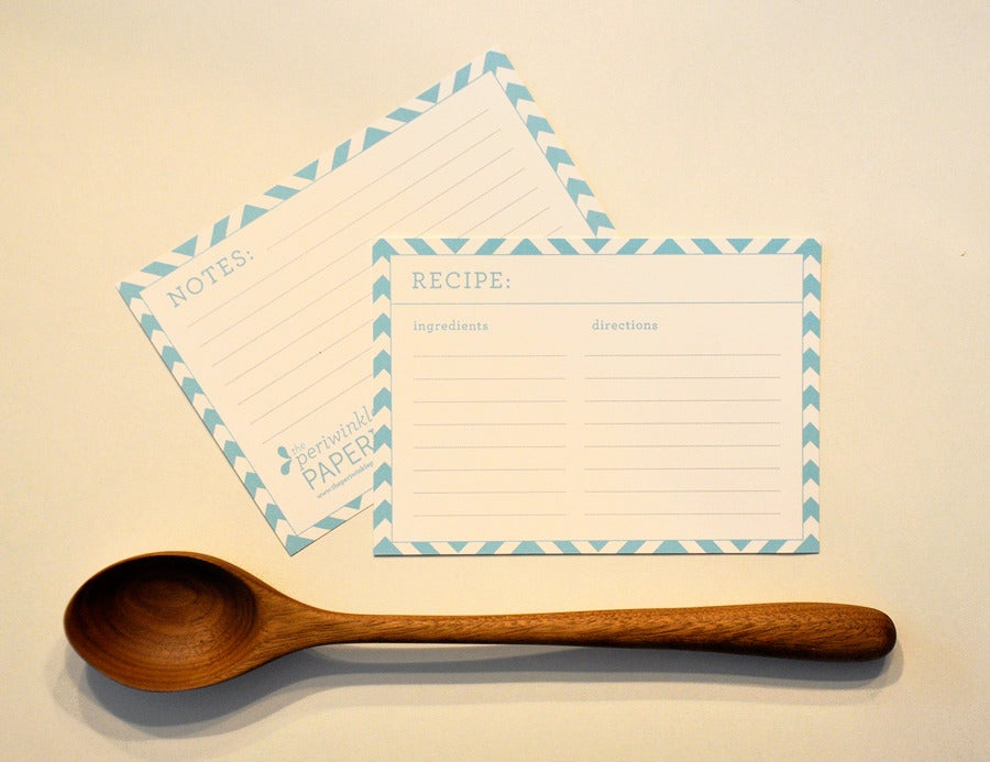 Image of Patterned Recipe Cards