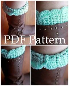 Image of Scalloped Boot Cuff Pattern