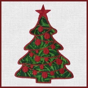 Image of Holiday Medley Embroidery for the Accuquilt Holiday Medley Die