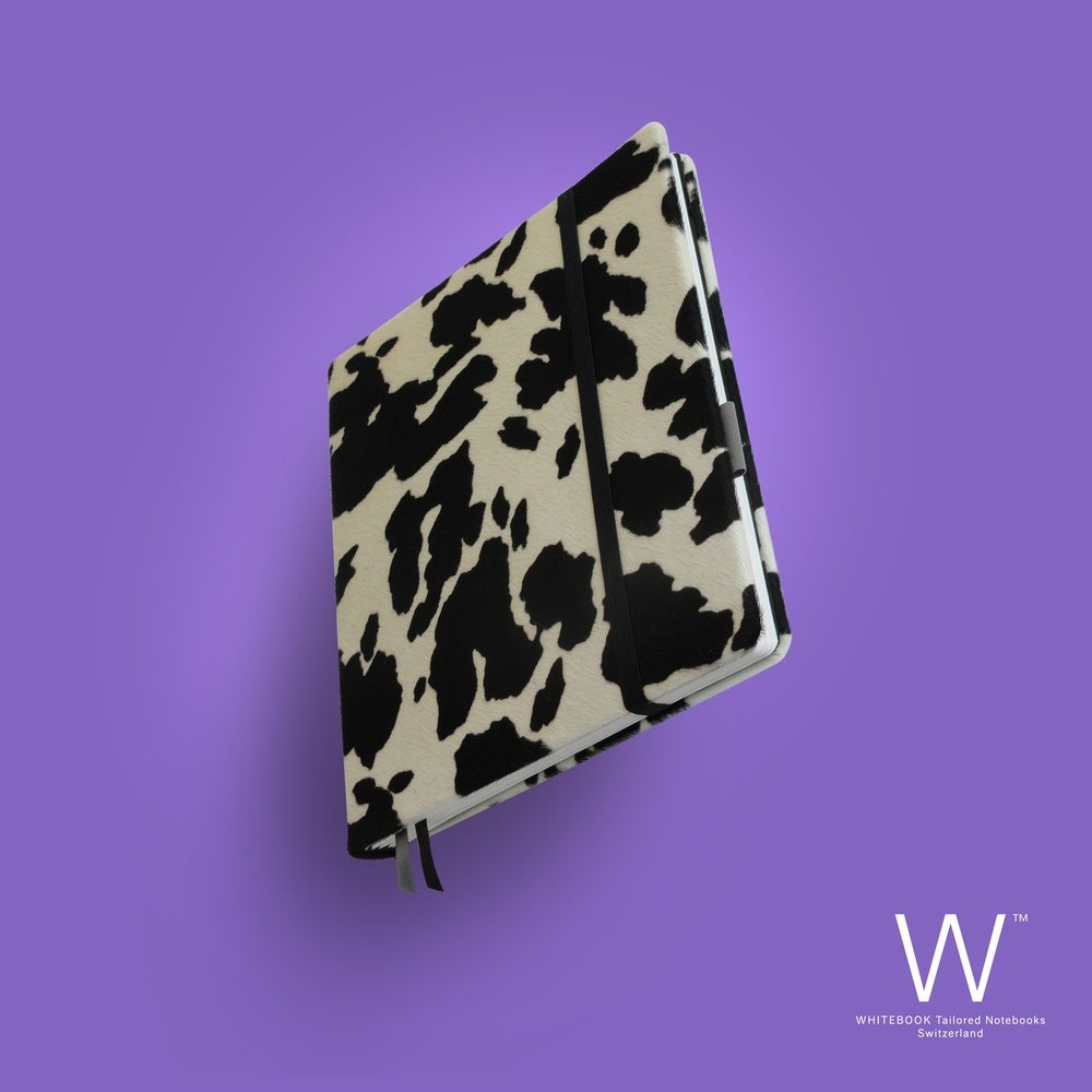 Image of Whitebook Collection A018, calf fur, black&white, 240p. (fits iPad / Air / Mini / Samsung)