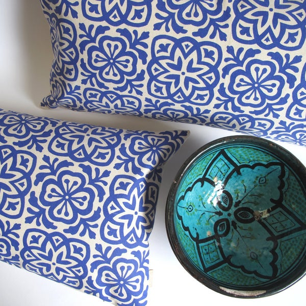 Image of Moroccan Tile Slim Cushion