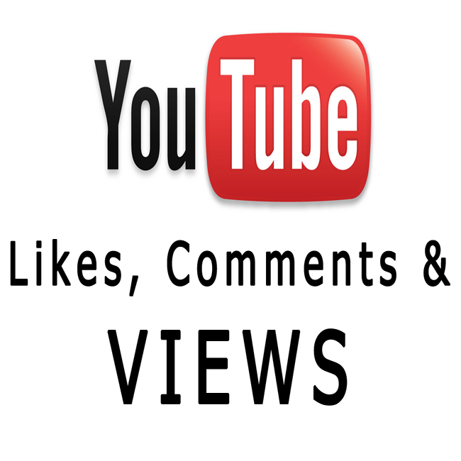 Image of YouTube Views, Comments, Likes & Subscribers