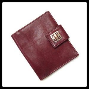 Image of Vintage Givenchy Oxblood Leather Wallet