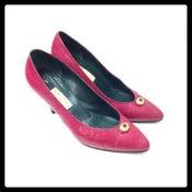 Image of Vintage Gucci crocodile jewel heels Size 37.5