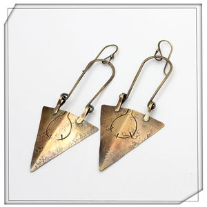 Image of Drop Arrow Earrings
