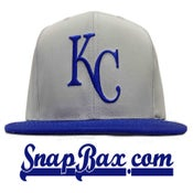 Image of VINTAGE KANSAS CITY ROYALS GREY SNAPBACK