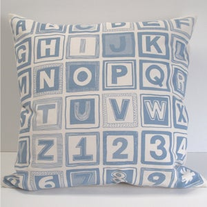Image of Retro Alphabet Cushion