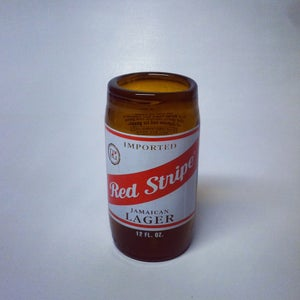 Image of Status x Red Stripe Glass