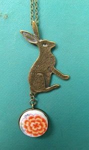 Image of Bunny Heart Necklace