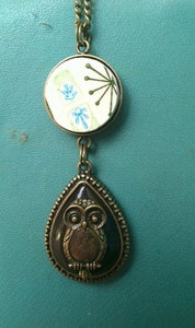 Image of I love owls necklace