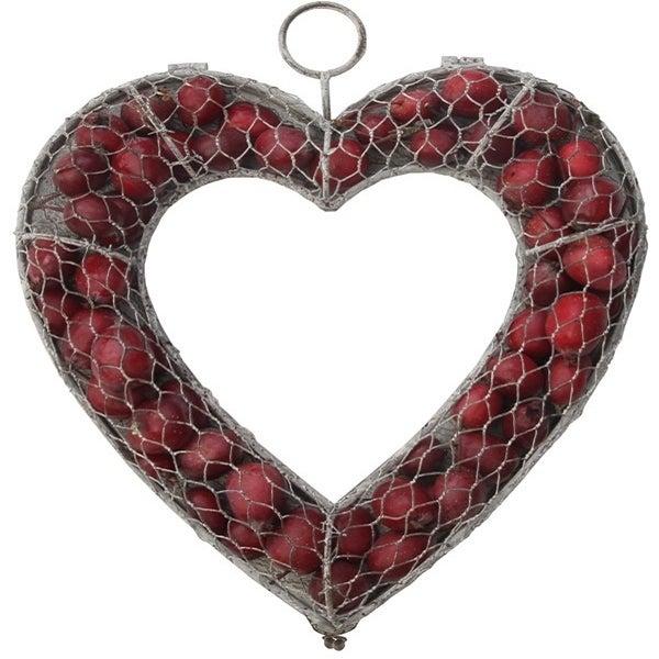 Image of Metal Heart Wreath For Seasonal Treats