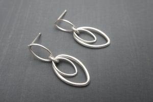 Image of Double Leaf Drop Earrings
