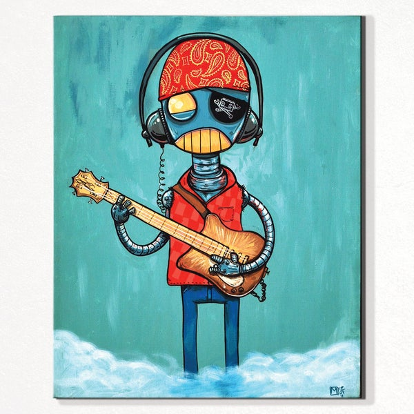 Let's Rock Painting - Matt Q. Spangler Illustration