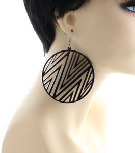 Image of Plexiglass Pattern Earrings