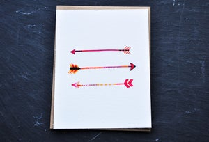 Image of arrows notecard
