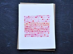 Image of xoxo notecard