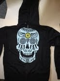 Image of Skull on Charcoal zip-up Hoodie