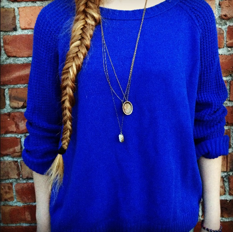 Nw Threads Electric Blue Sweater