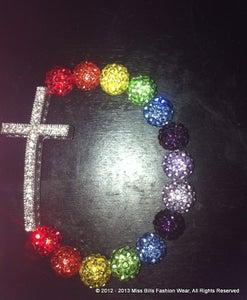 Image of  Cake Cake ~ Rainbow bracelet