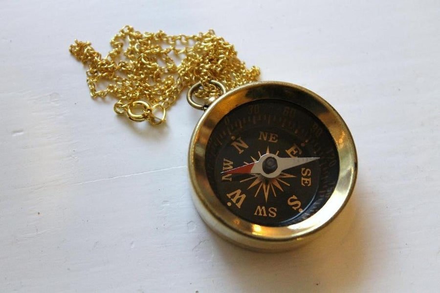 Image of Vintage Compass Necklace (Originally $32)