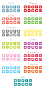Image of Colorful Square Social Media Icons