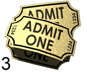 Image of 3 Event Tickets